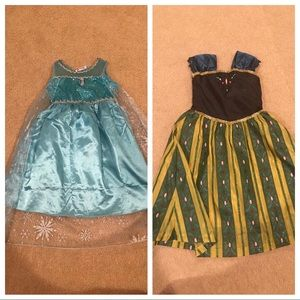 Other - Girls Anna and Elsa dress bundle